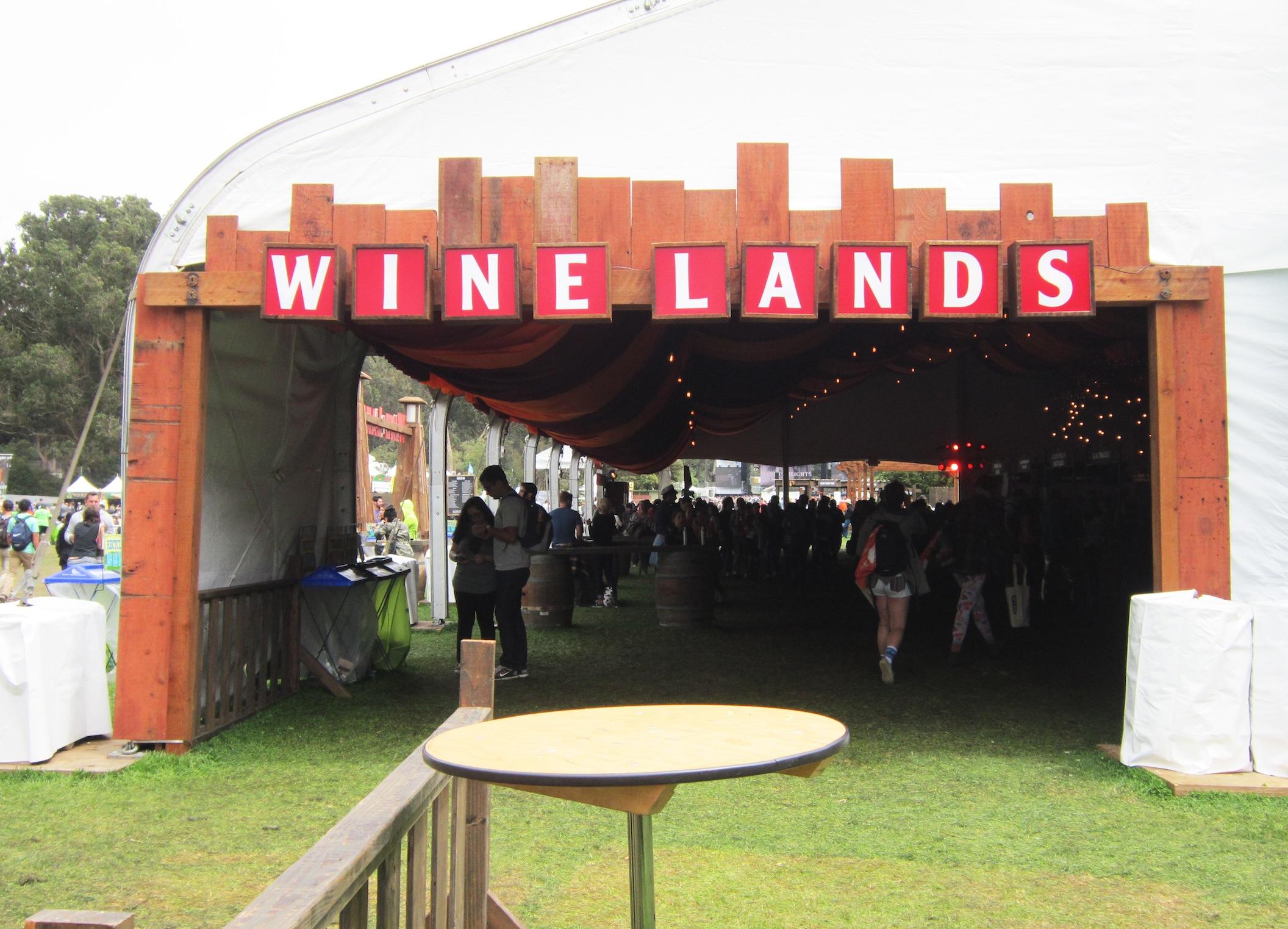 wine Lands Outside Lands 2014