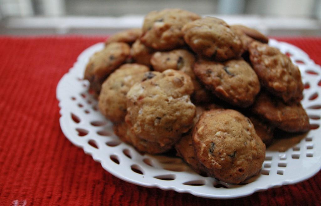 RECIPE: Dark Chocolate-Candied Ginger-Peppermint-Pretzel Cookies