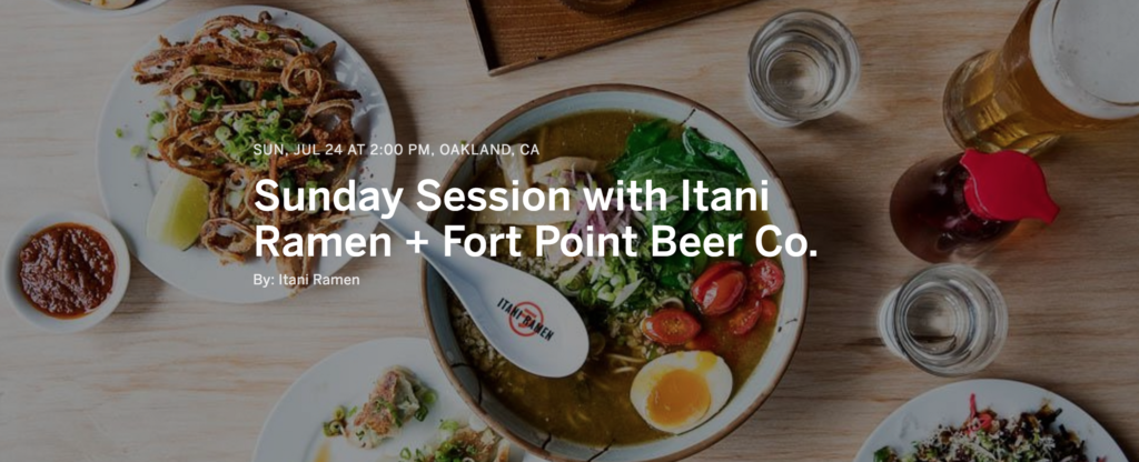What to Do This Weekend: Itani Ramen + Fort Point Beer