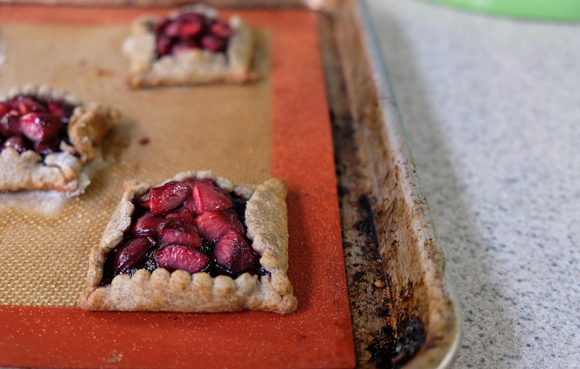 Recipe: Buckwheat Cherry Galettes // Shikha la mode