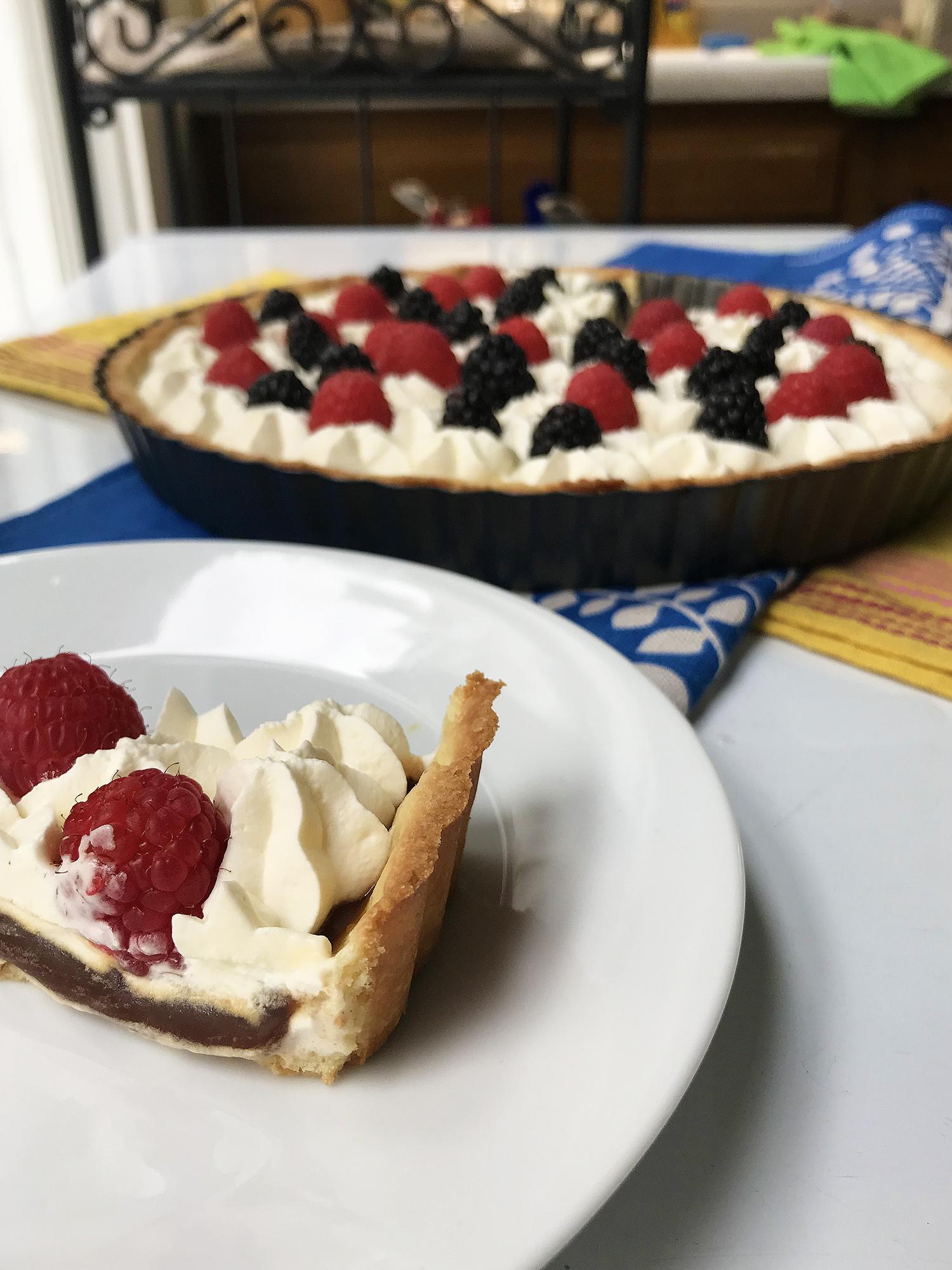 Recipe: Caramel Cream Tart with Berries // Shikha la mode
