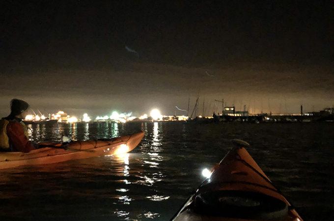 REI outdoor classes evening kayak tour