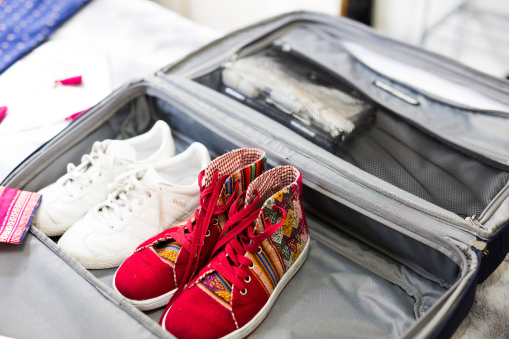 packing shoes into travelpro luggage