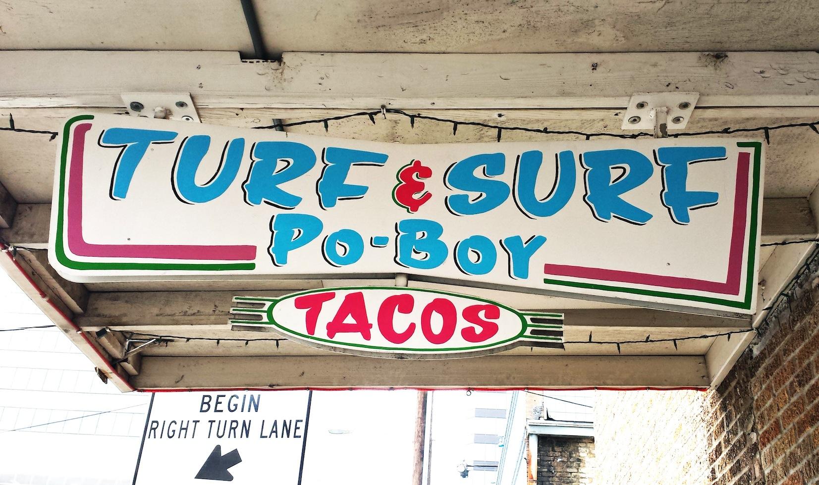Turf n' Surf Po Boy