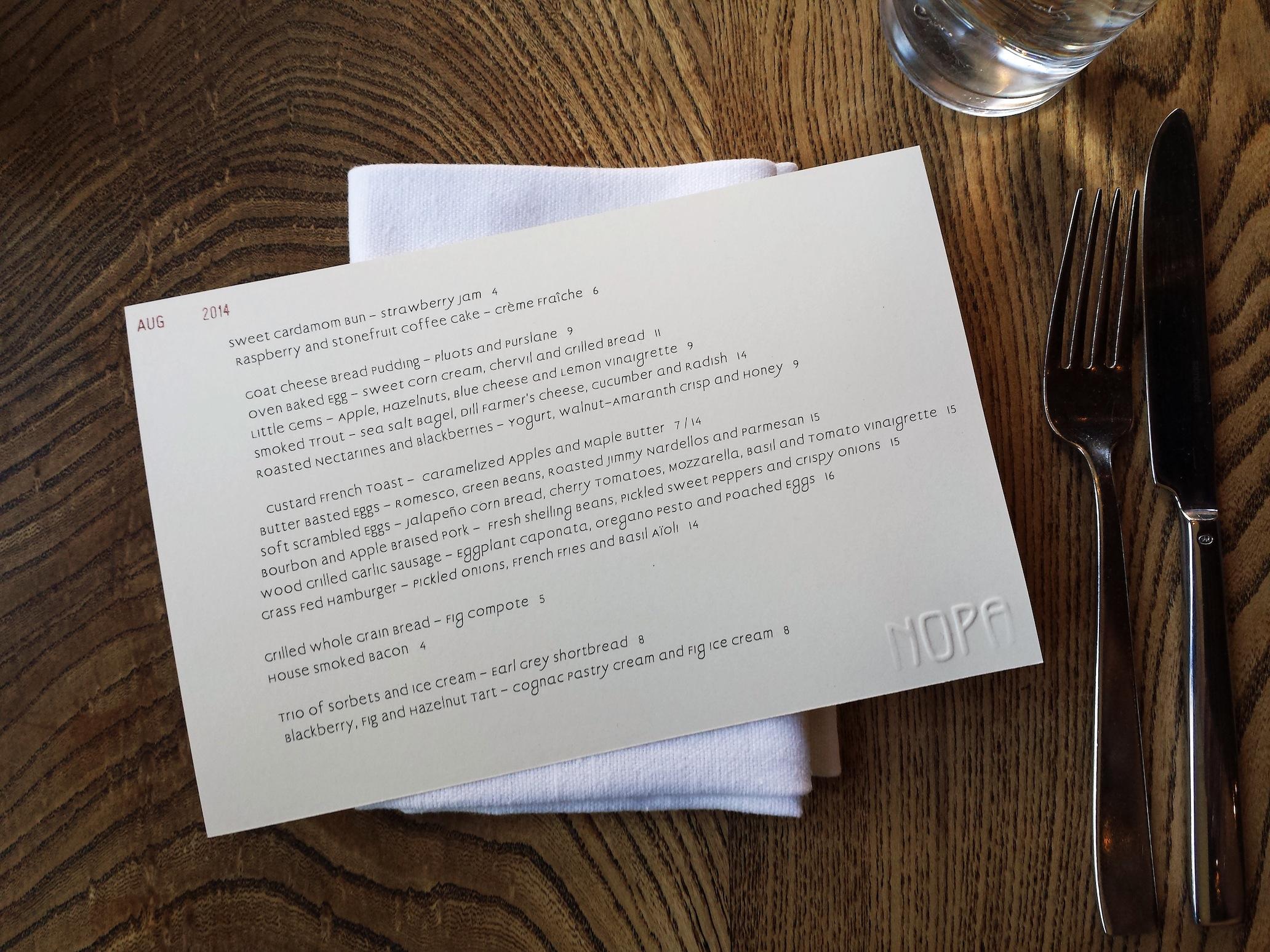 Nopa Restaurant SF