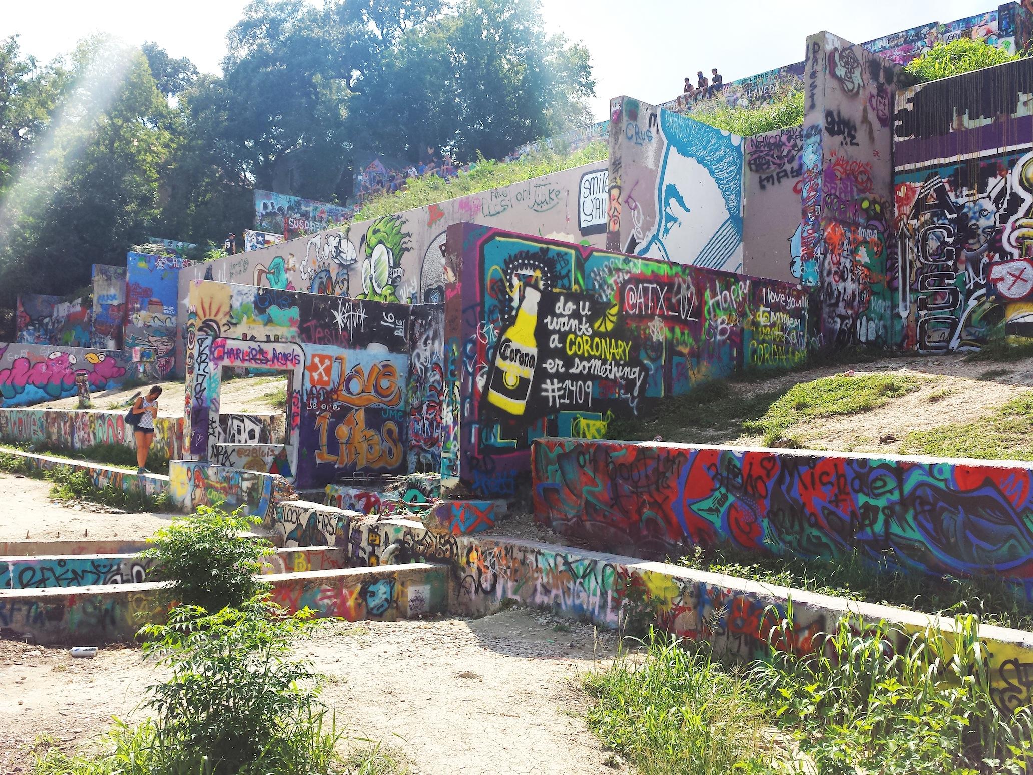 Castle Hill Graffiti Park Austin, Texas