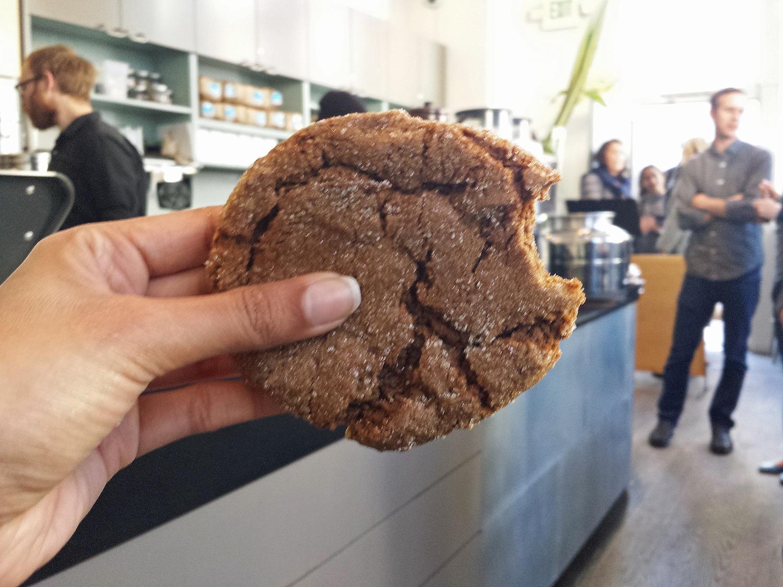 Ginger molasses cookie Blue Bottle