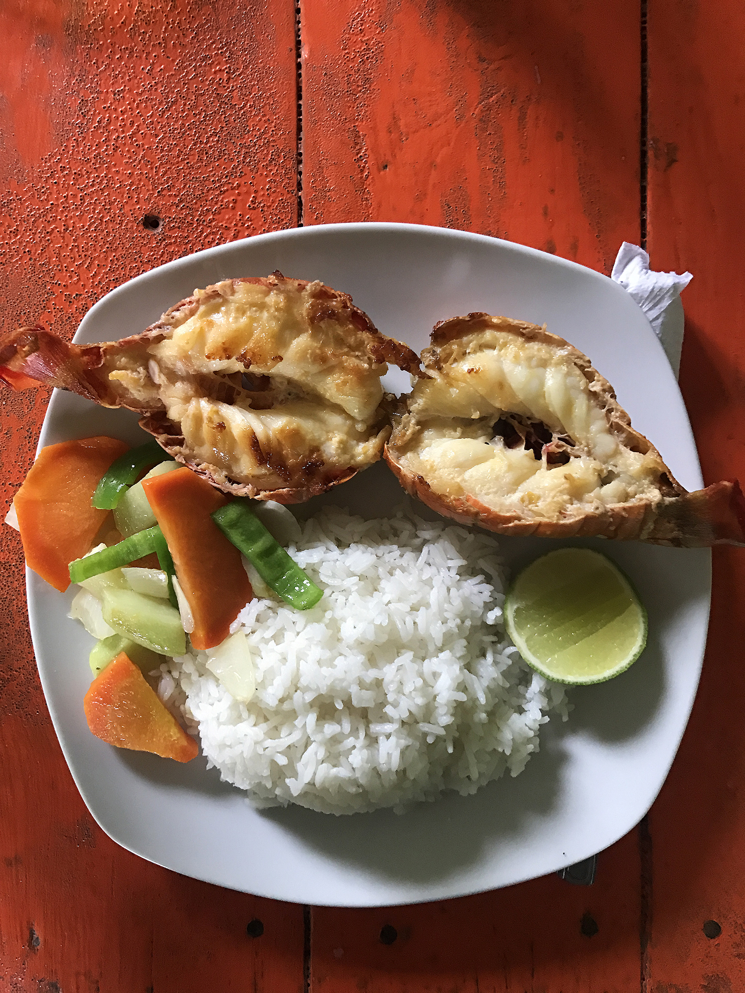 Lobster and rice // Travel Little Corn Island // Shikha la mode
