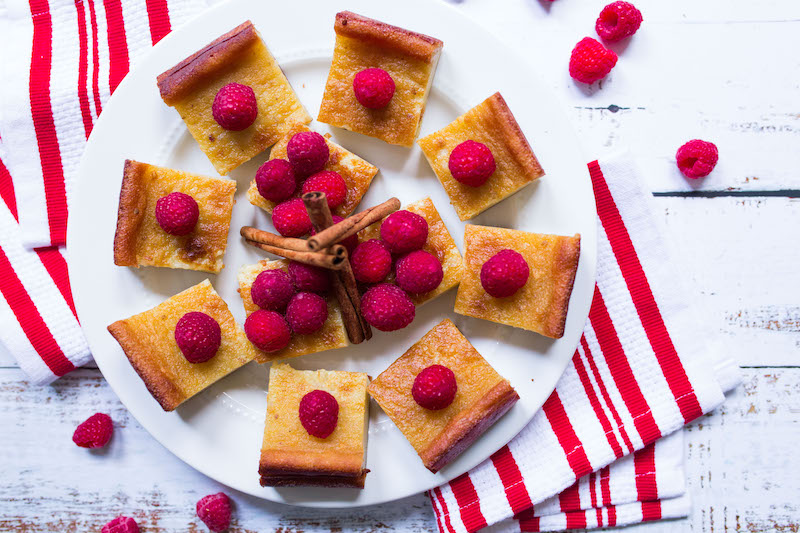 Recipe: Mochi Cake with Raspberries
