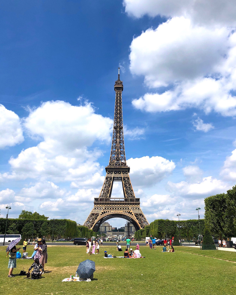 Eiffel Tower landmark in Paris