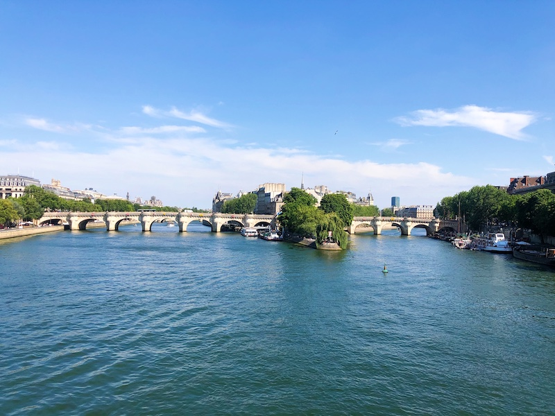 Daytime along the Seine river