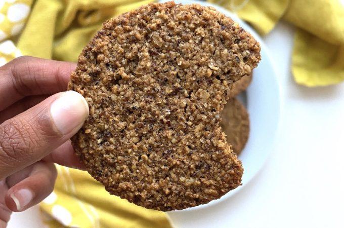 Gluten-Free Digestive Biscuits bitten