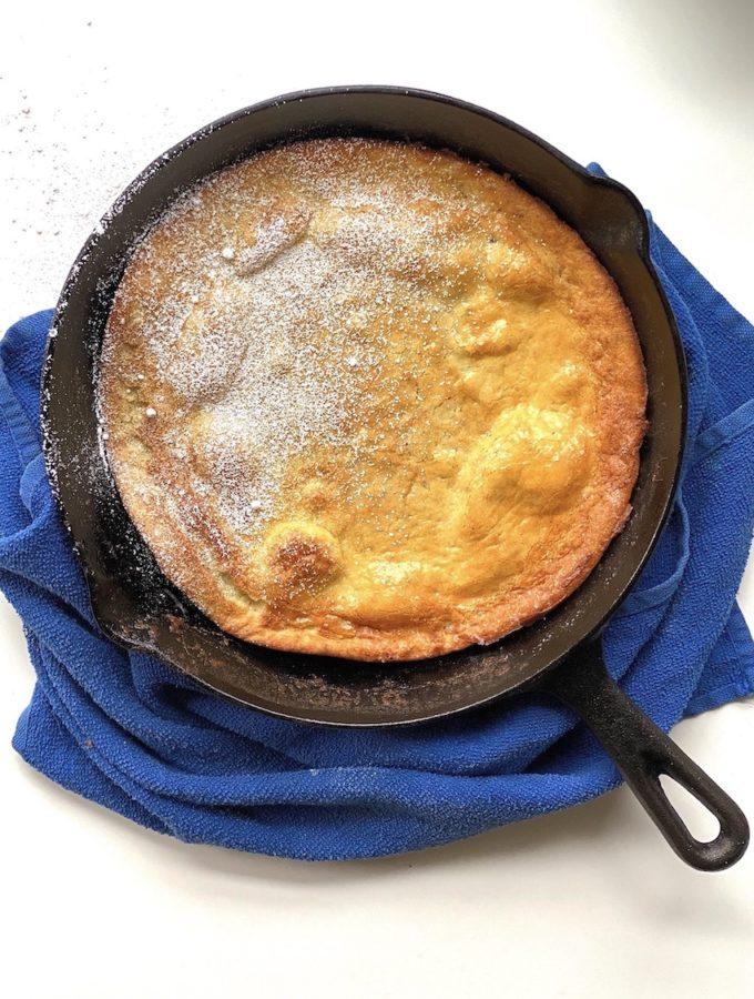 cast iron baked pancake
