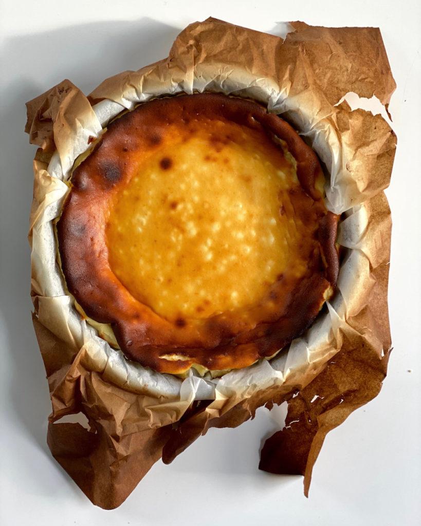 molten Basque burnt cheesecake