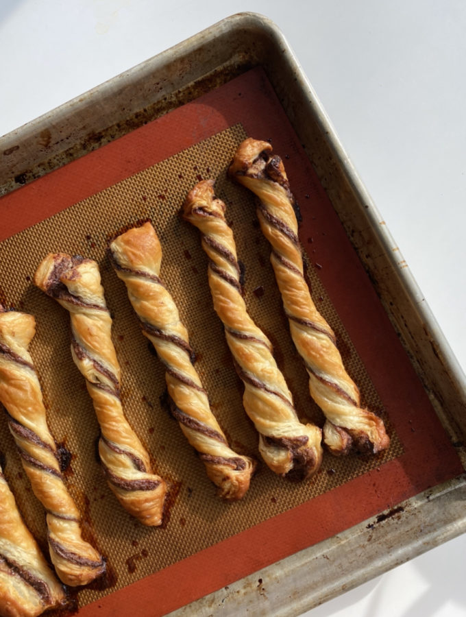 Nutella Puff Pastry Twists