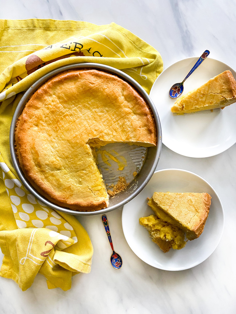 Gâteau Basque, Mango Pastry Cream