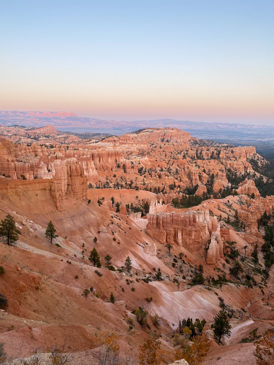 Utah road trip: Bryce at sunset
