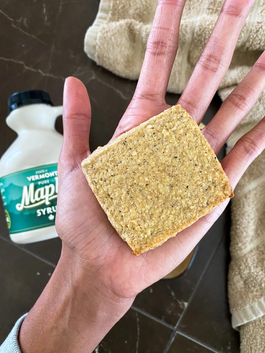 maple Oat shortbread cookie