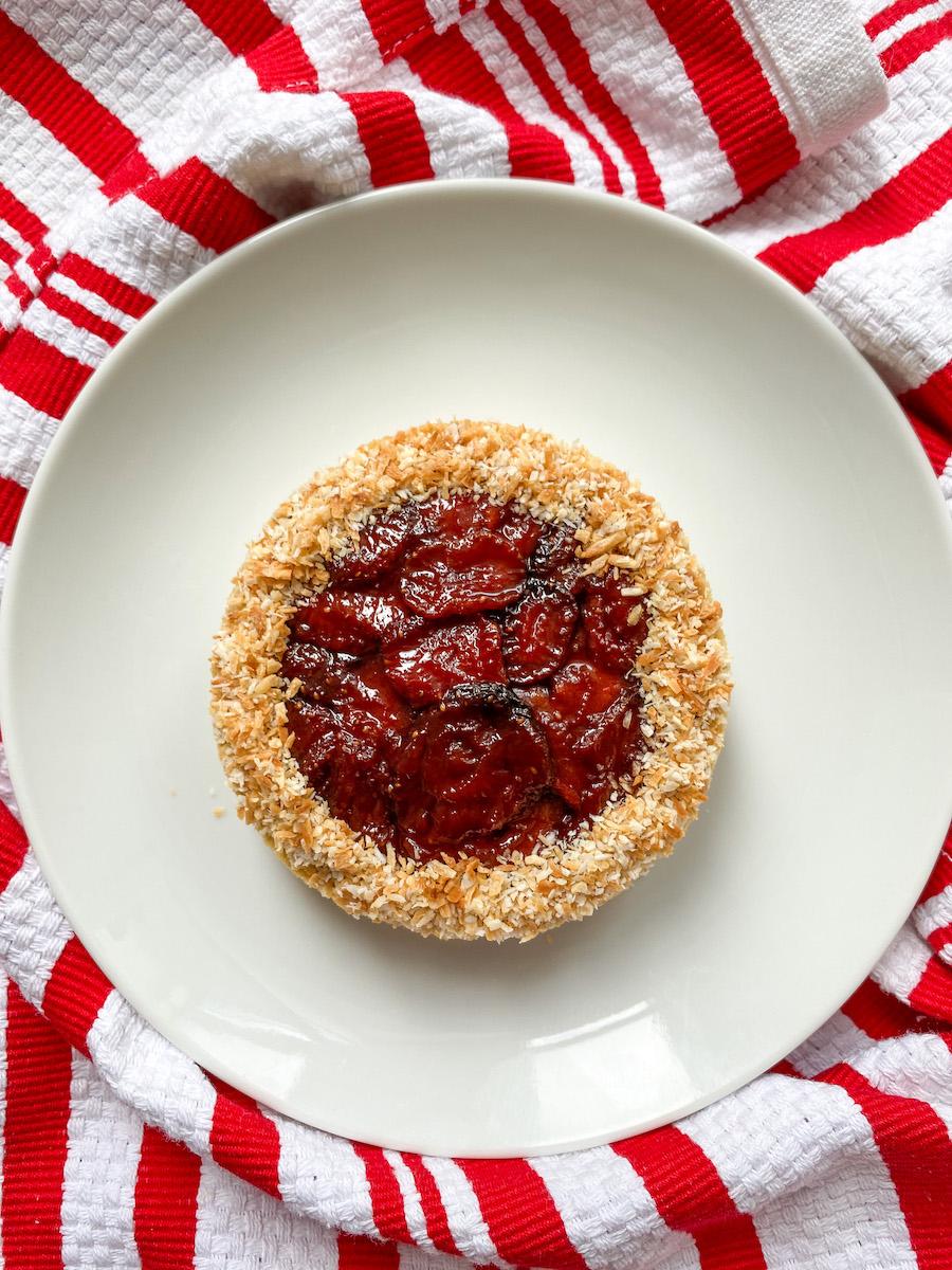 Slow Roasted Strawberry Coconut Tart